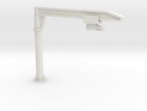 O Scale Column Jib Crane #2 in White Natural Versatile Plastic