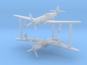 1/285 (6mm) Messerschmitt Me-209H/V1 (x2) in Smooth Fine Detail Plastic