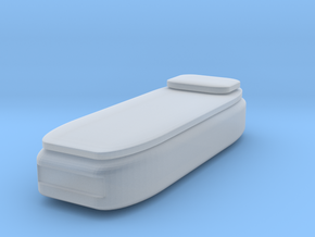 HO Scale Twin Bed in Smooth Fine Detail Plastic