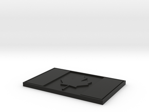 Canada Patch (Velcro) in Black Natural Versatile Plastic