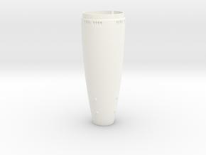 Hinterteil Torpedo G7e 1:8,5 in White Processed Versatile Plastic