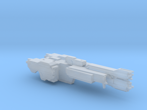 UNSC Stalwart Class Frigate In Amber Clad in Smooth Fine Detail Plastic