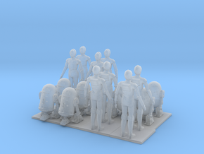 1/144 Robots for Diorama X 16 in Smooth Fine Detail Plastic