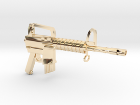 CAR15 SMG in 14K Yellow Gold