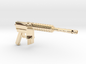 CAR15 COMMANDO FANTASTIC SMG in 14k Gold Plated Brass