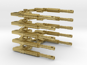 CAR15 COMMANDO FANTASTIC SMG SET10 in Natural Brass