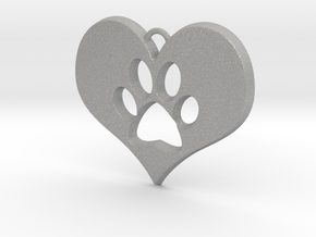 Paw Print Heart in Aluminum