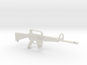 M16A1 v1 in White Natural Versatile Plastic