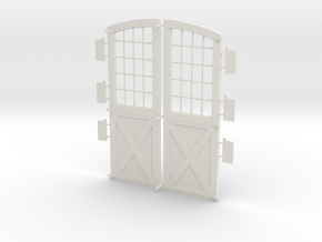 Main Doors DSP&P Gunnison Roundhouse in White Natural Versatile Plastic