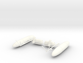 Wessex Stores Carrier & Fuel Tank (Port+Starboard) in White Processed Versatile Plastic: 1:48 - O