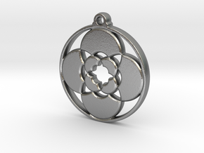 Lotus Pendant III in Natural Silver