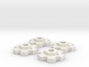 NutLockers for Jconcepts Tribute Wheels (for 7mm) in White Natural Versatile Plastic