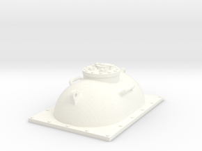 28mm fuel tank hatch in White Processed Versatile Plastic