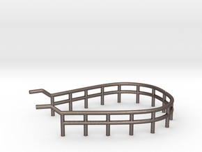 1/48 U-Boot U-441 Railing 3 for Conning Tower in Polished Bronzed-Silver Steel