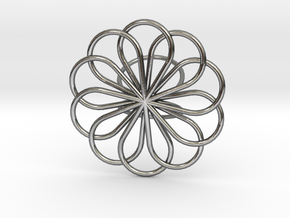 Scarf Brooch in Polished Silver
