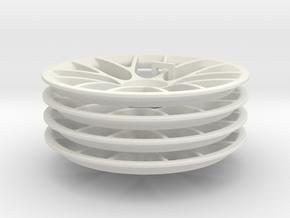 7 doublespoke rimcover 4 piece set in White Natural Versatile Plastic