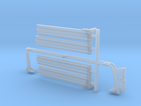 Rollbar & rear cargo sides for GMV - 1/18 scale in Smooth Fine Detail Plastic