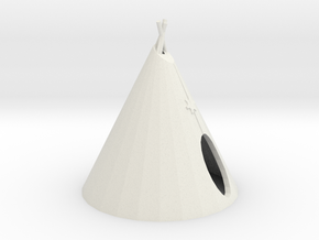 HO Scale Teepee in White Natural Versatile Plastic