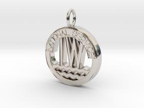 Inland Waterways Pendant in Rhodium Plated Brass