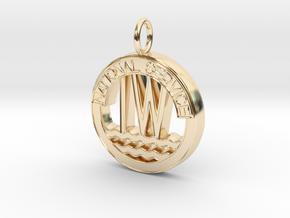 Inland Waterways Pendant in 14k Gold Plated Brass