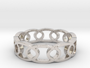 Oval_20 in Rhodium Plated Brass
