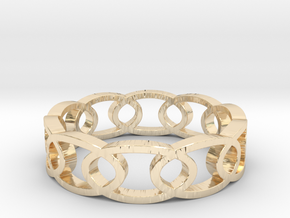 Oval_20 in 14k Gold Plated Brass