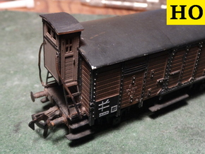 HO Brakeman's Cab Replacement Set in Smooth Fine Detail Plastic: Small