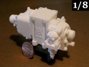 1/8 Scale AB Valve in White Natural Versatile Plastic