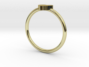 Mini HEART Ring Size 7 V DESIGN LAB in 18k Gold Plated Brass