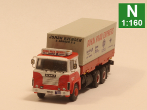 Scania 141 chassis Sleeper cab (1:160 scale) in Smooth Fine Detail Plastic