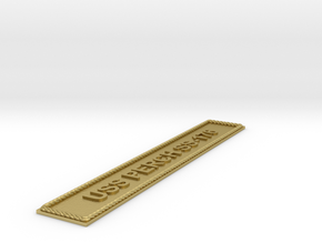 Nameplate USS Perch SS-176 in Natural Brass