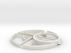 2 way trammel of archemedes in White Natural Versatile Plastic