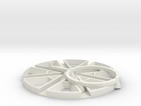 4 way trammel of archemedes in White Natural Versatile Plastic
