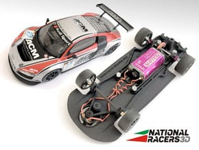 3D Chassis - Ninco Audi R8 LMS (Combo) in Black Natural Versatile Plastic