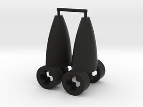 Eye Connector Type 5 in Black Natural Versatile Plastic