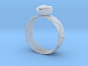 "GoldRing ""Heart"" version1 in Smooth Fine Detail Plastic"
