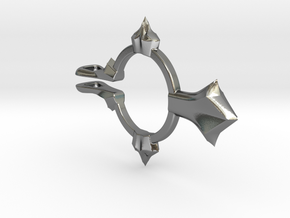 Mens Madrid - 2Part Cross Outer in Polished Silver