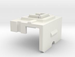 Tyrant's Titan Master Neck adaptor in White Natural Versatile Plastic
