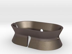 Headphone Holder in Polished Bronzed-Silver Steel
