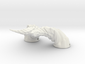 Dragon Horns: Swept Back for BJD and Humans in White Natural Versatile Plastic