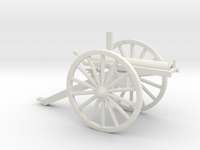 1/72 Scale R J Gatling Battery Gun in White Natural Versatile Plastic