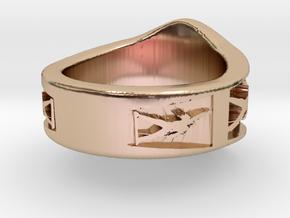 Freddie Mercury Ring in 14k Rose Gold: 1.5 / 40.5