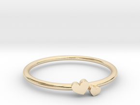 Twin Heart Ring (Multiple Sizes) in 14K Yellow Gold: 5 / 49