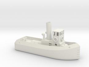 N gauge Steam Tug in White Natural Versatile Plastic