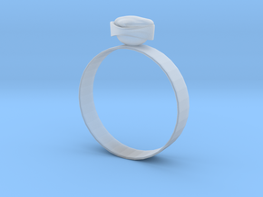 "GoldRing version3 ""Heart"" 5mm in Smooth Fine Detail Plastic"