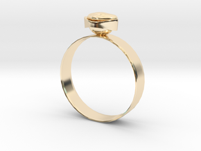"""GoldRing version3 """"Heart"""" 5mm in 14k Gold Plated Brass"""