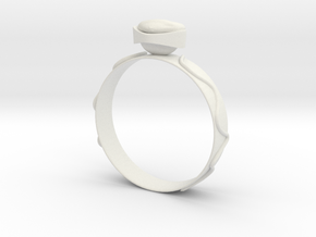 "GoldRing version 3a ""Heart""  in White Natural Versatile Plastic"