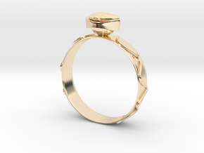 """GoldRing version3b """"Heart"""" holes in 14k Gold Plated Brass"""