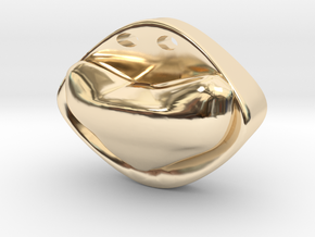 """Ring Pendant Neck """"Heart"""" in 14k Gold Plated Brass"""