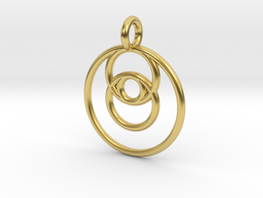 ringpendant27 in Polished Brass